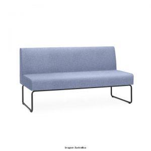 Sofá para escritório PIX sem braços
